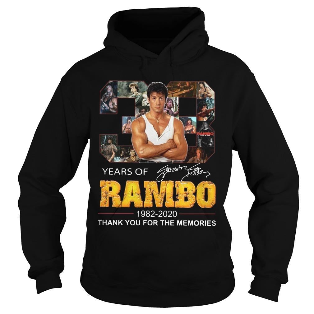 38 Years Of Rambo 1982 2020 Thank You For The Memories Hoodie