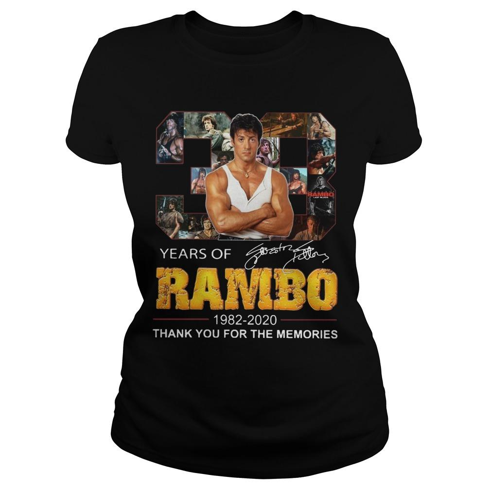 38 Years Of Rambo 1982 2020 Thank You For The Memories Longsleeve