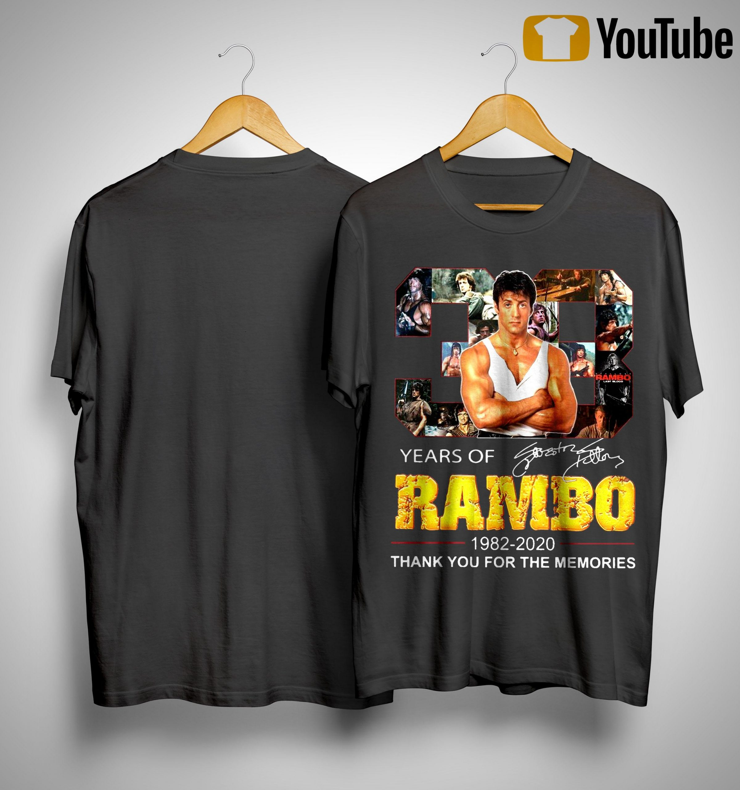 38 Years Of Rambo 1982 2020 Thank You For The Memories Shirt