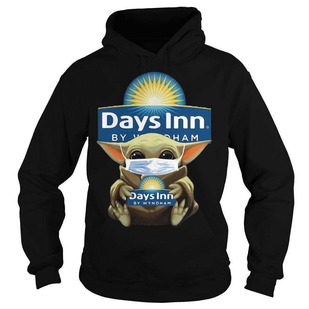 Baby Yoda Mask Hugging Days Inn By Wyndham Hoodie