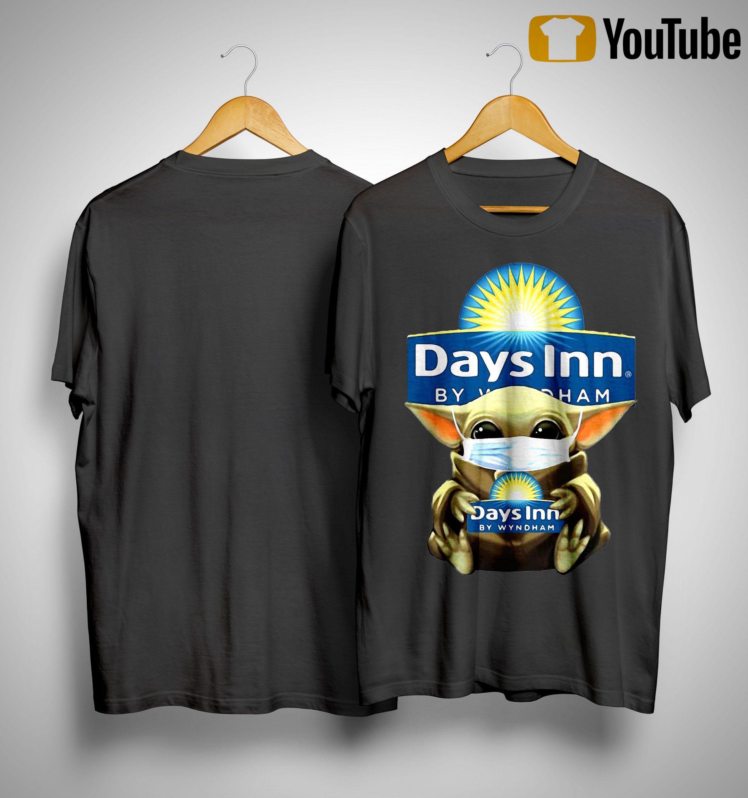Baby Yoda Mask Hugging Days Inn By Wyndham Shirt
