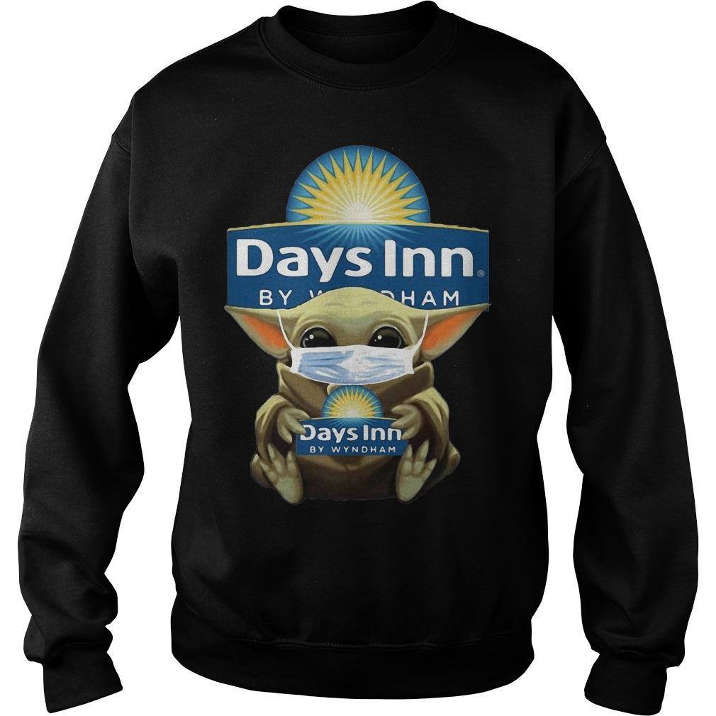Baby Yoda Mask Hugging Days Inn By Wyndham Sweater