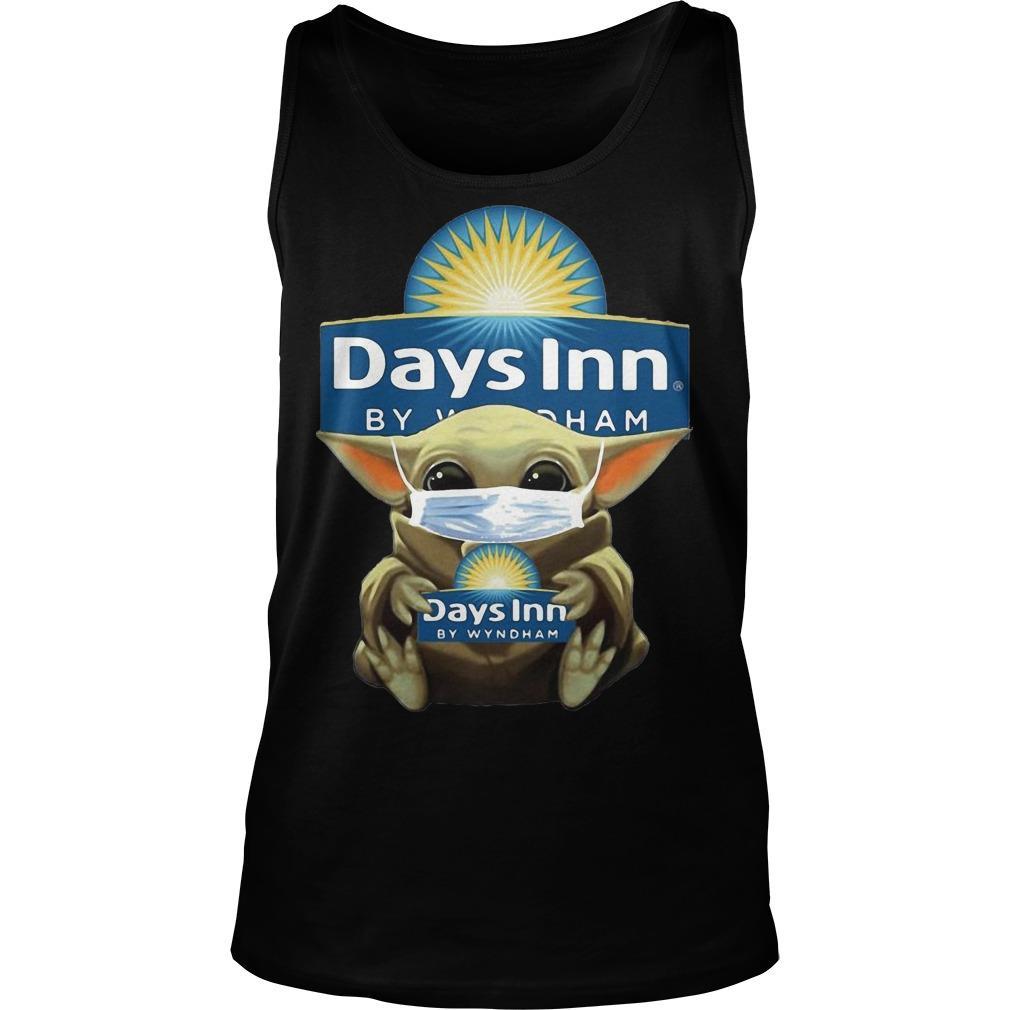 Baby Yoda Mask Hugging Days Inn By Wyndham Tank Top
