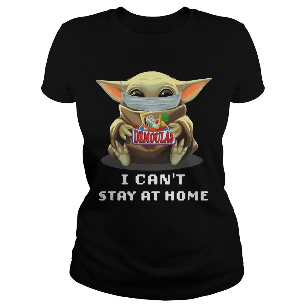Baby Yoda Mask Hugging Demoulas I Can't Stay At Home Longsleeve