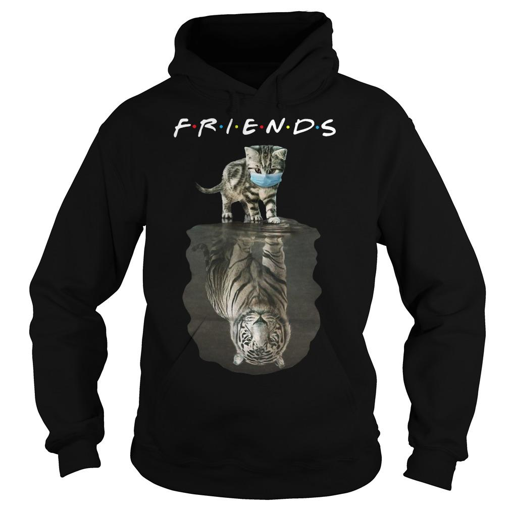 Cat Face Mask Reflection Tiger Friends Hoodie