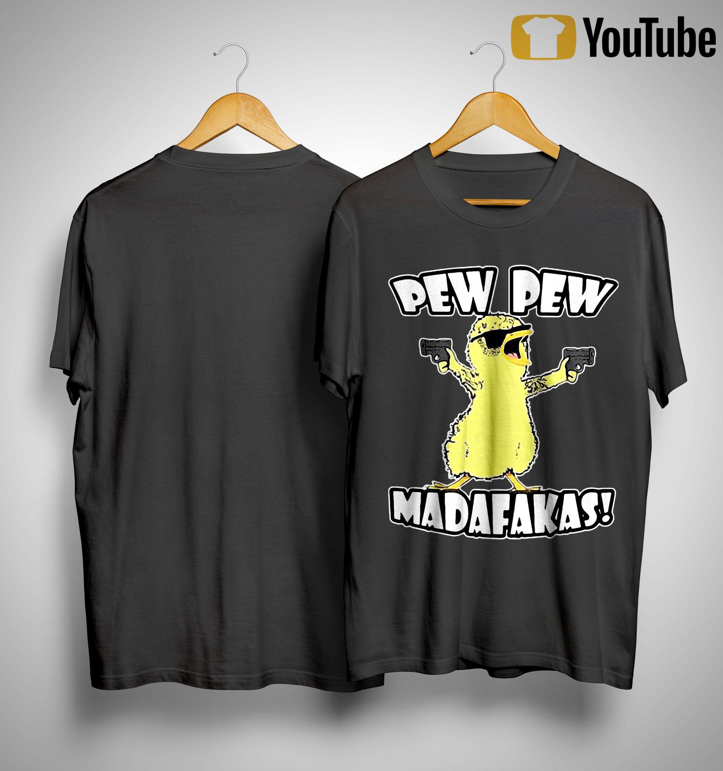 Gun Duck Pew Pew Madafakas Shirt