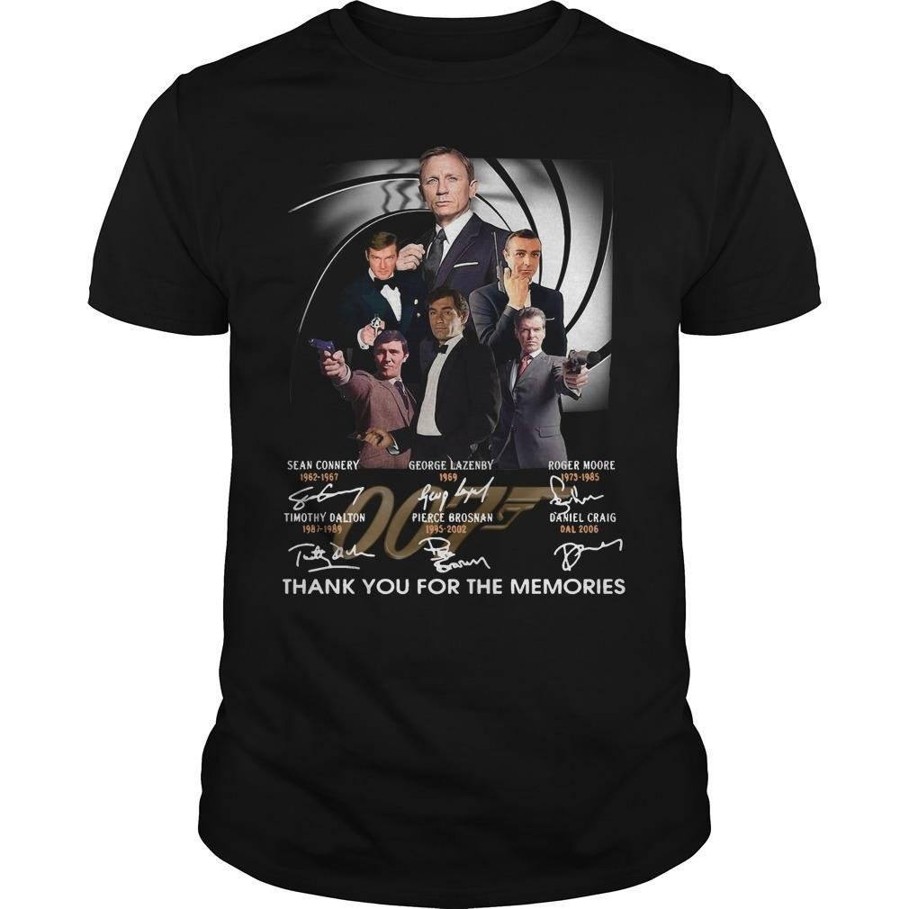 James Bond Signature Thank You For The Memories Shirt