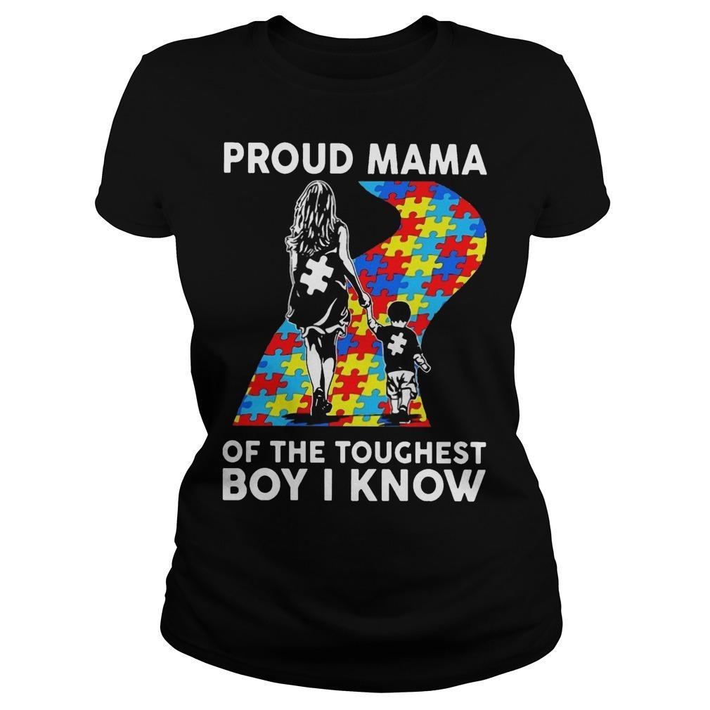 Proud Mama Of The Toughest Boy I Know Longsleeve