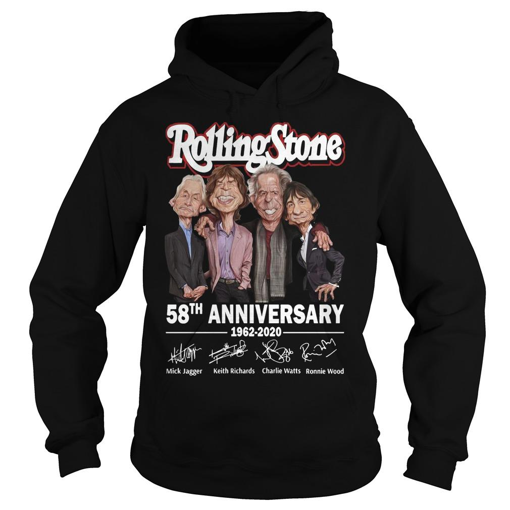 Rolling Stone 58th Anniversary 1962 2020 Signatures Hoodie