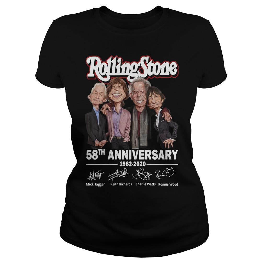 Rolling Stone 58th Anniversary 1962 2020 Signatures Longsleeve