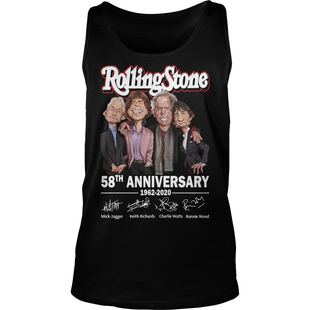 Rolling Stone 58th Anniversary 1962 2020 Signatures Tank Top