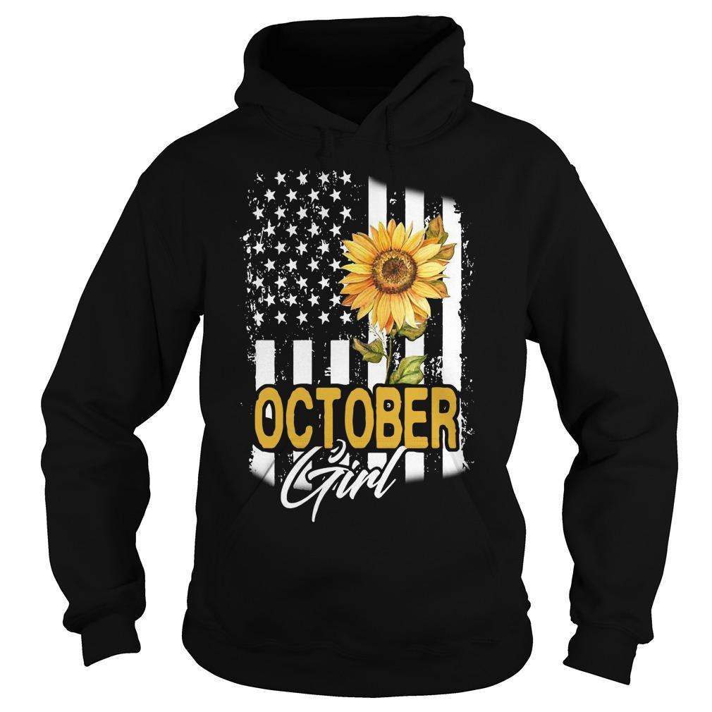 Sunflower Flag October Girl Hoodie