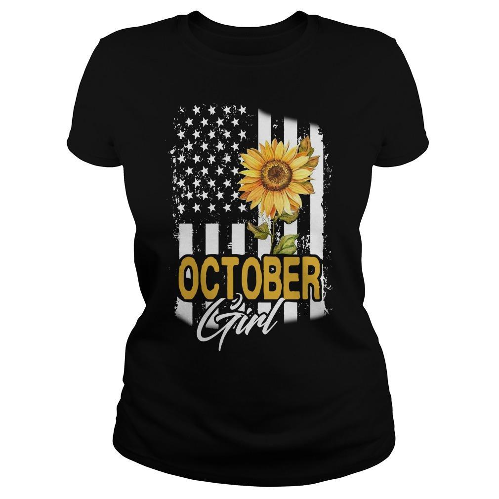 Sunflower Flag October Girl Longsleeve