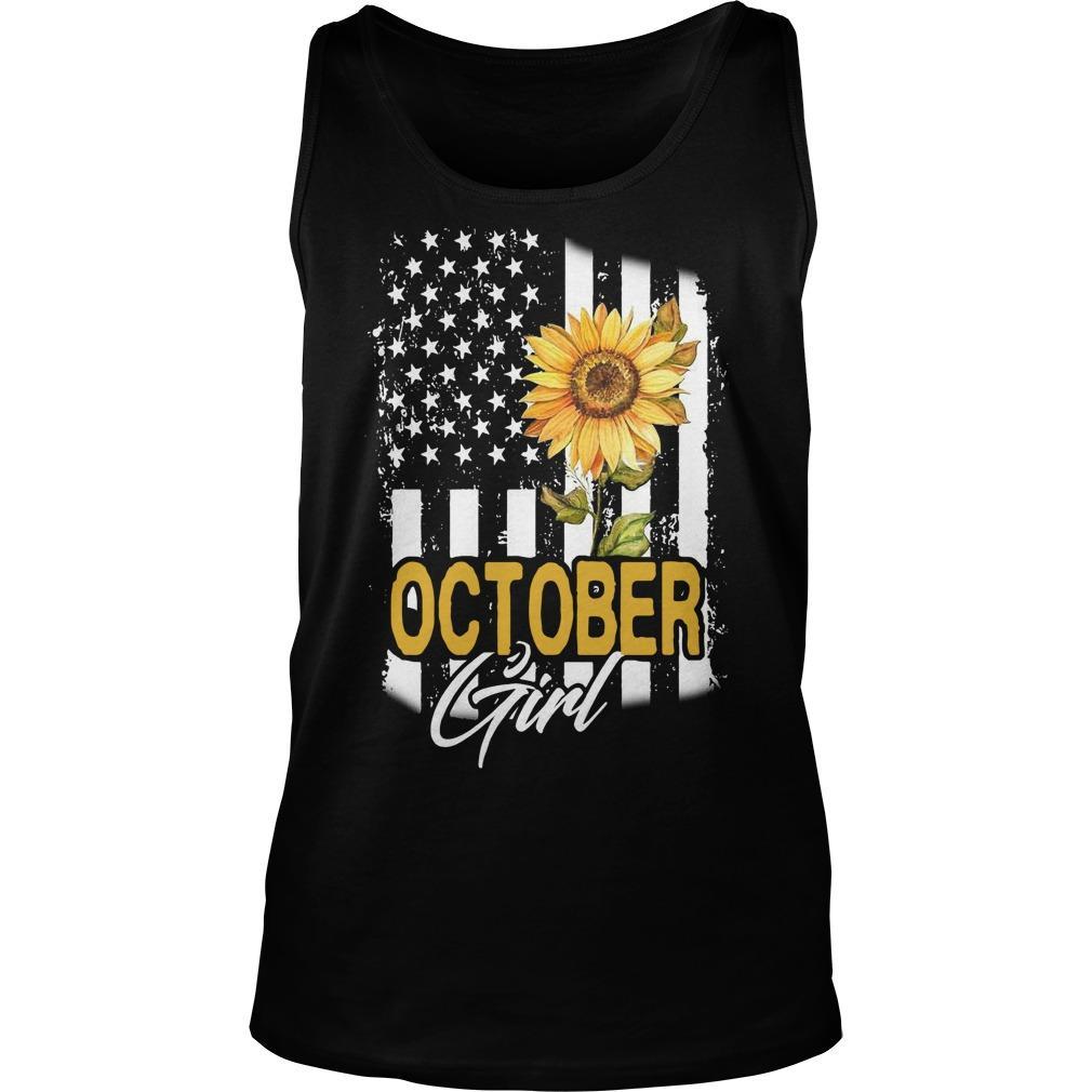 Sunflower Flag October Girl Tank Top