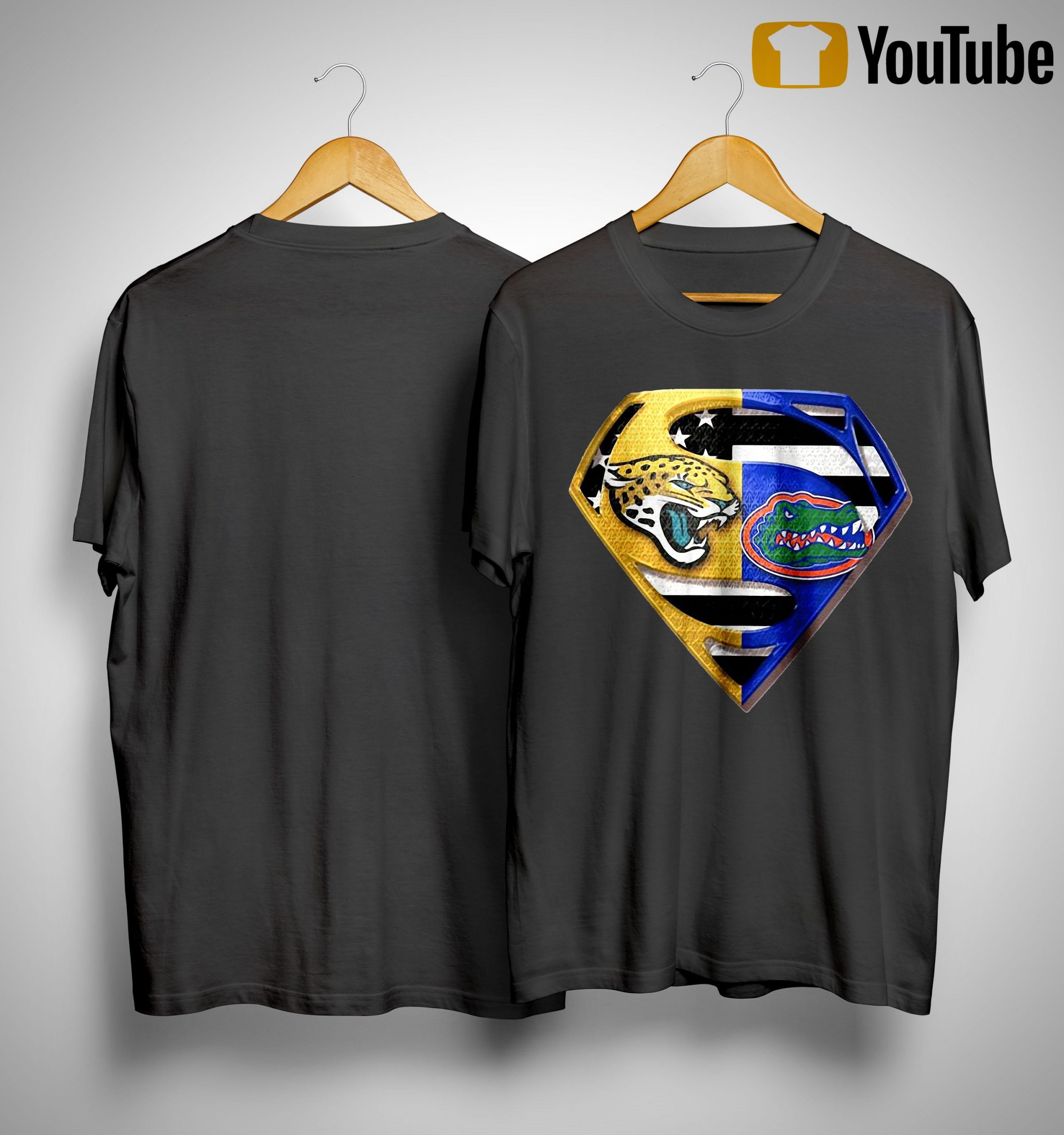 Superman Jacksonville Jaguars And Florida Gators Shirt