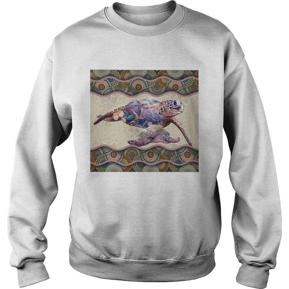 Turtle Boho Pattern Sweater