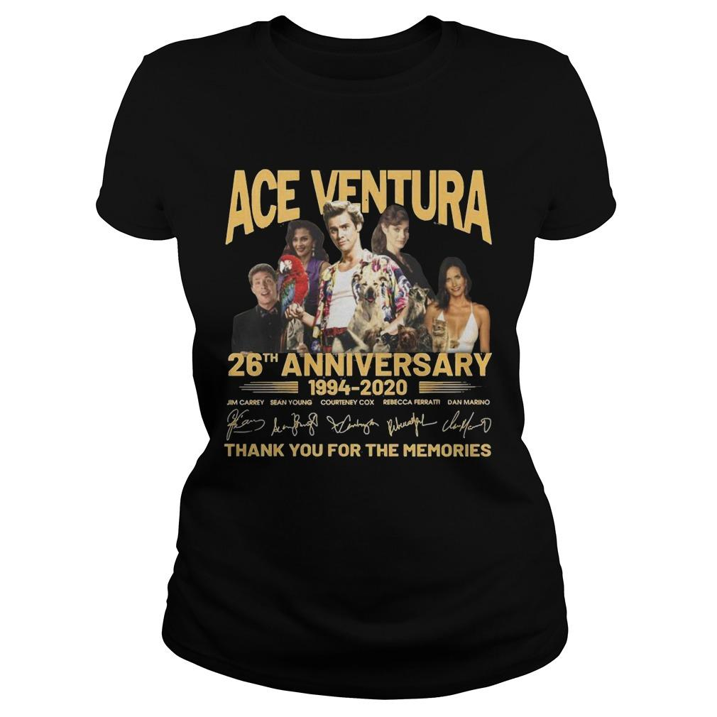 Ace Ventura 26th Anniversary 1994 2020 Thank You For The Memories Longsleeve