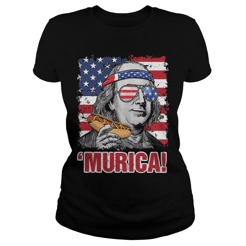 American Flag Benjamin Franklin Murica Longsleeve