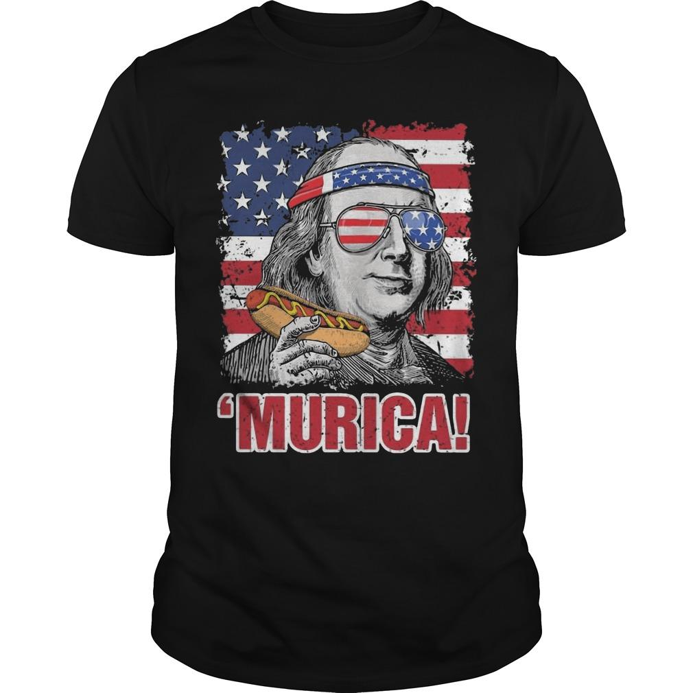 American Flag Benjamin Franklin Murica Shirt