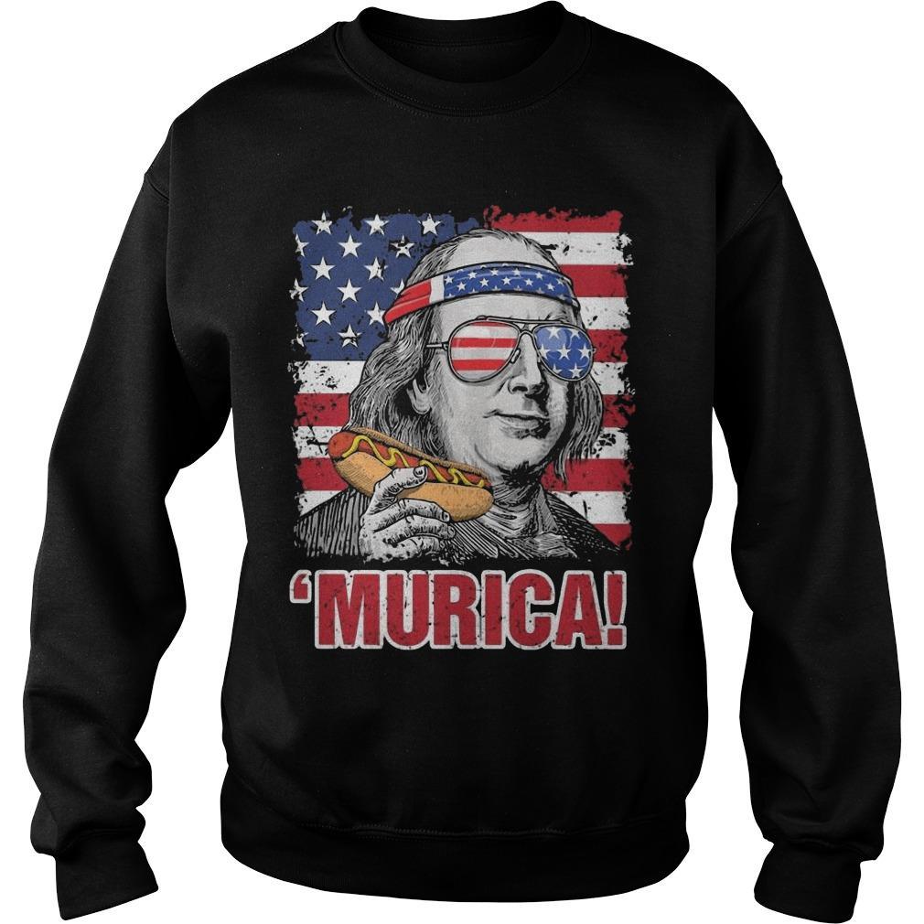 American Flag Benjamin Franklin Murica Sweater