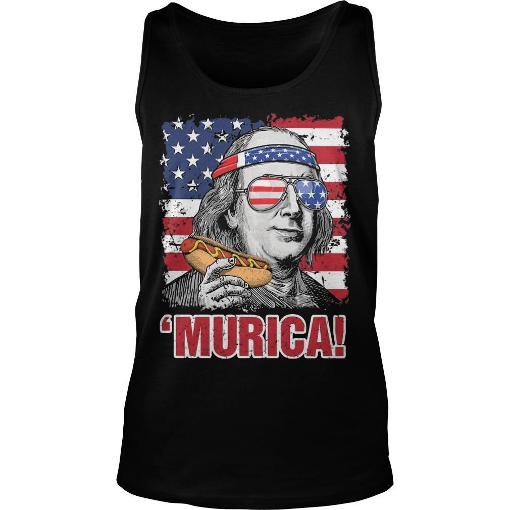 American Flag Benjamin Franklin Murica Tank Top