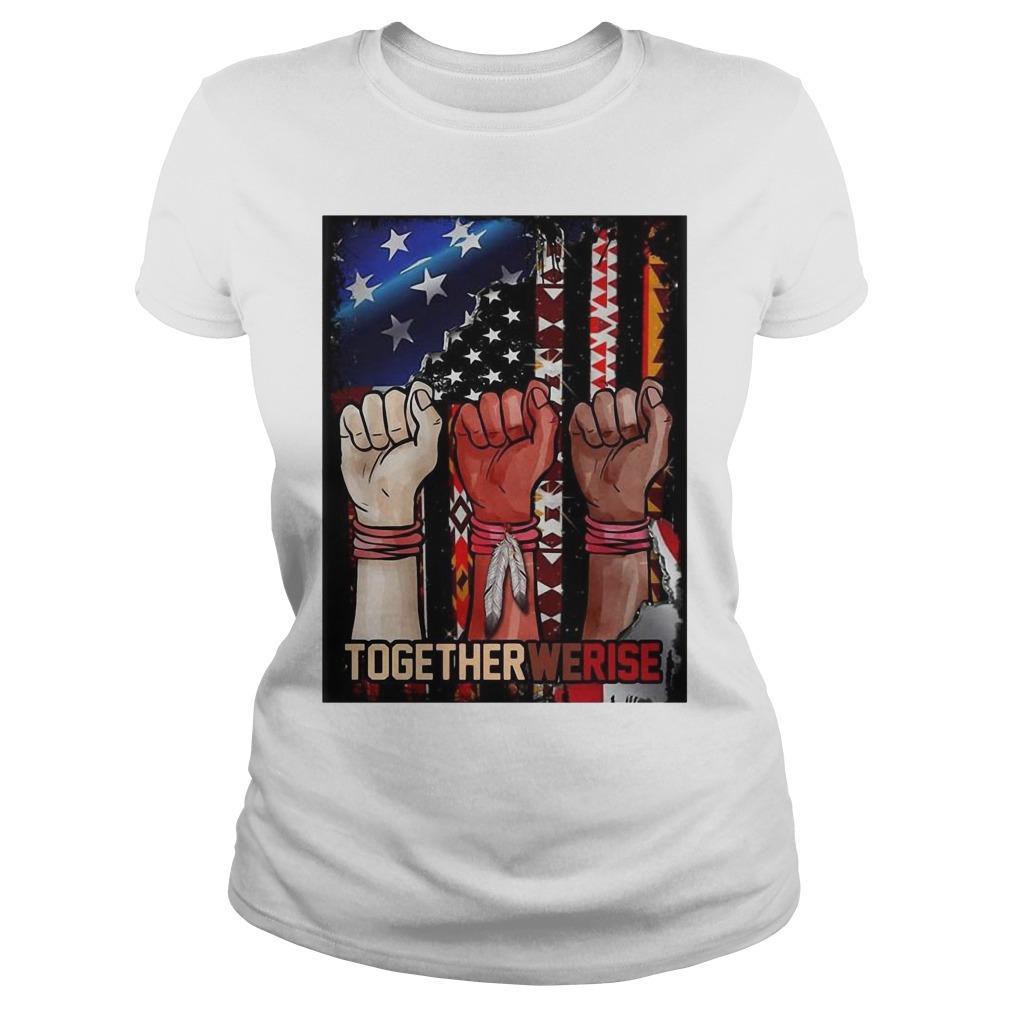 American Flag Black Live Matter Strong Hand Together We Rise Longsleeve