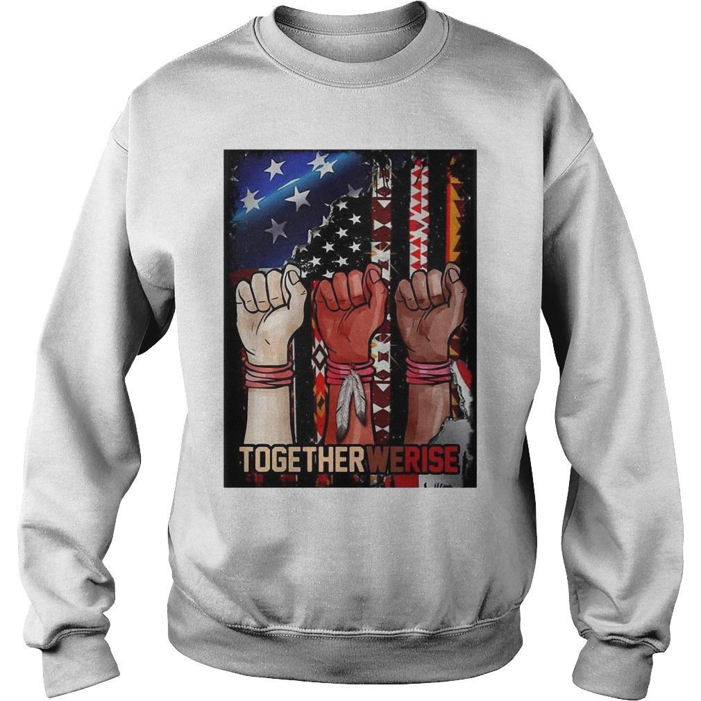 American Flag Black Live Matter Strong Hand Together We Rise Sweater