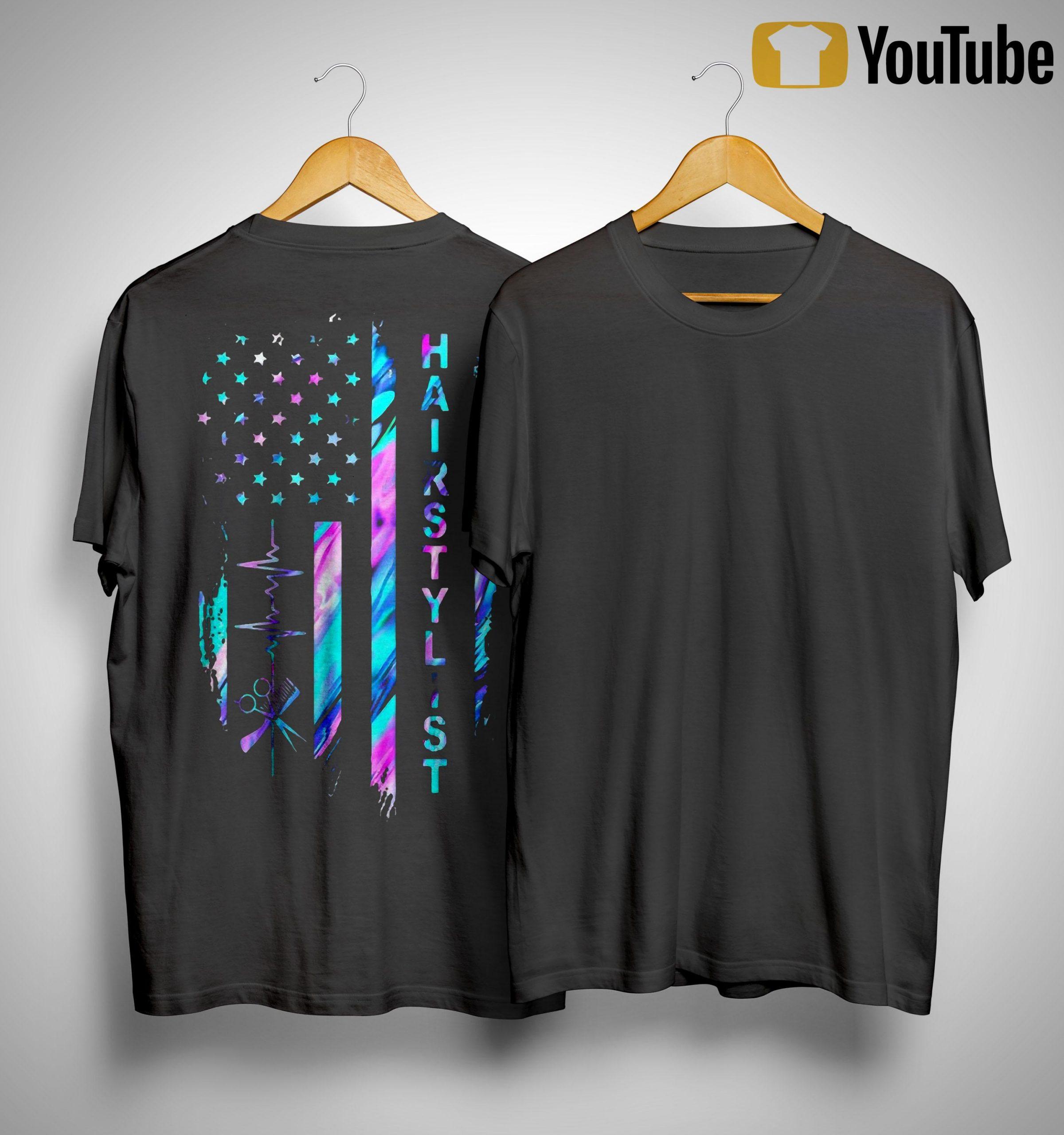American Flag Hair Stylist Shirt