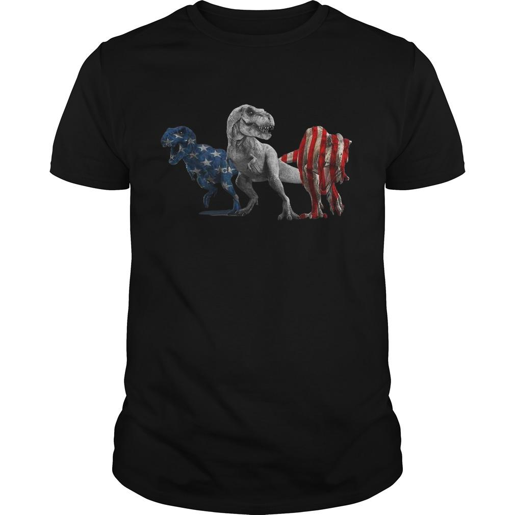 American Flag Independence Day Dinosaurs Shirt