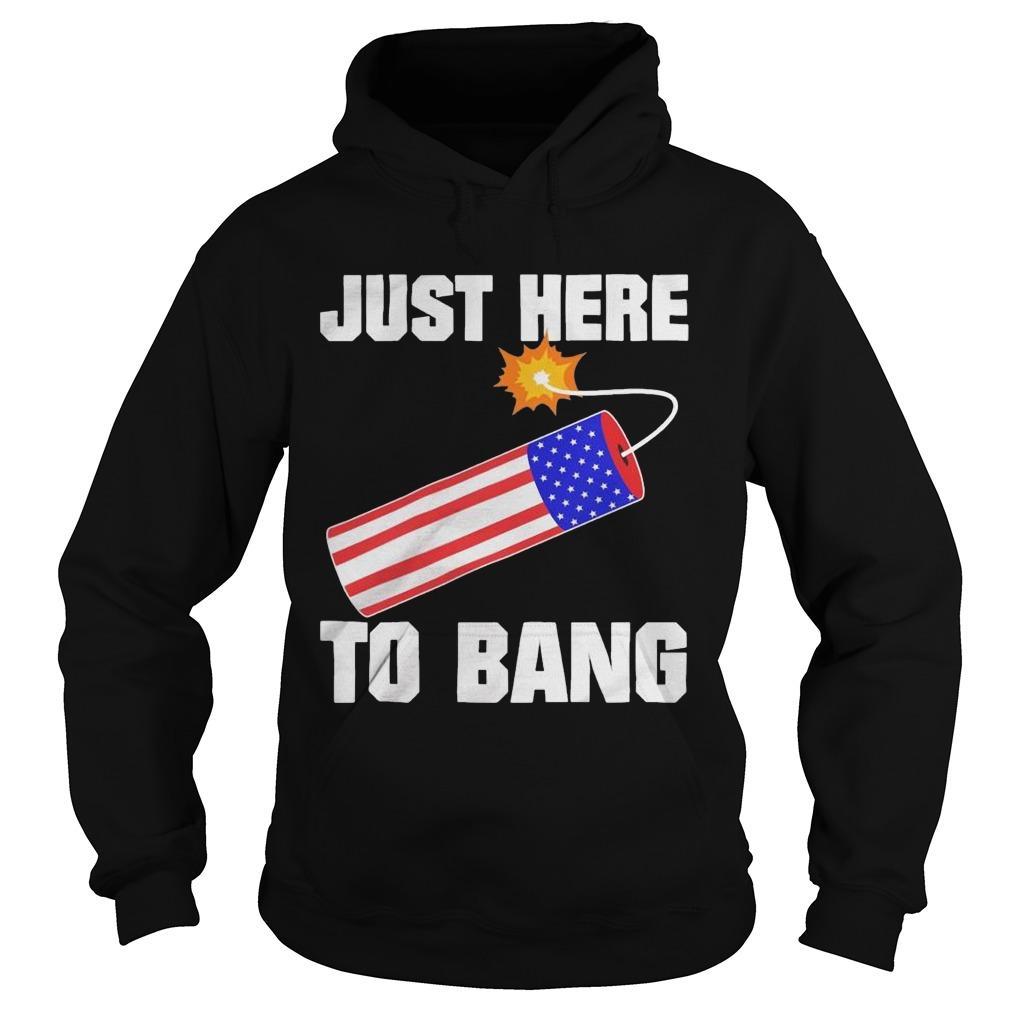 American Flag Just Here To Bang Hoodie