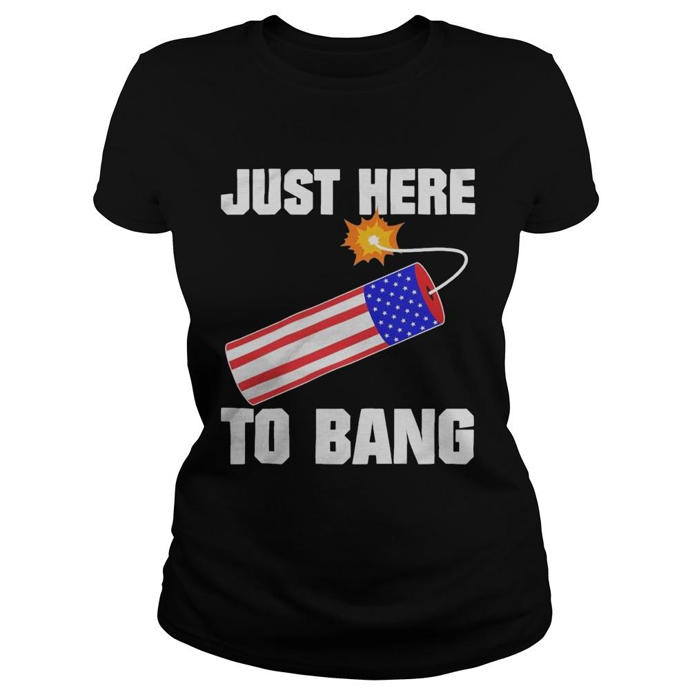 American Flag Just Here To Bang Longsleeve