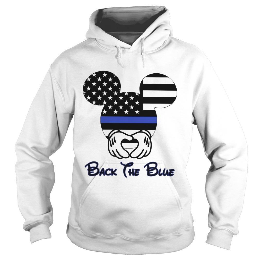 American Flag Mickey Mouse Back The Blue Hoodie