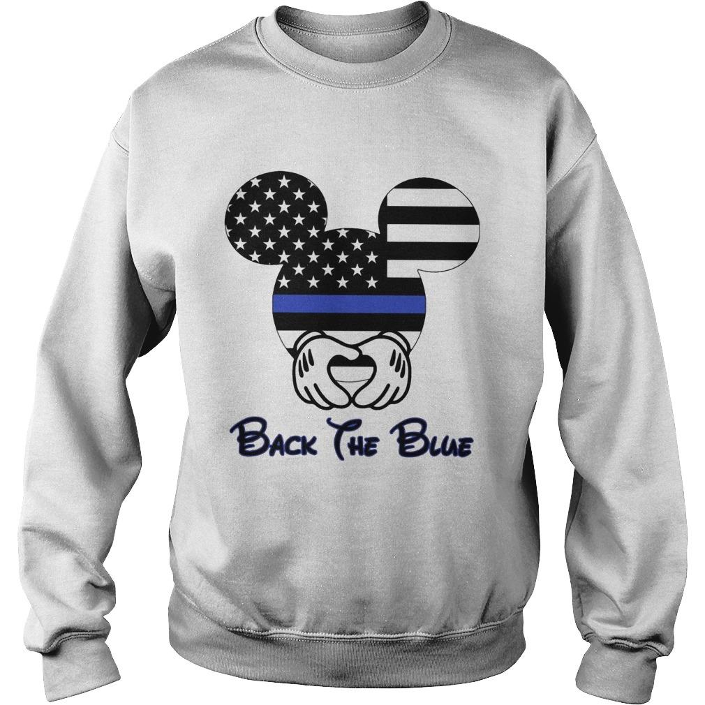 American Flag Mickey Mouse Back The Blue Sweater