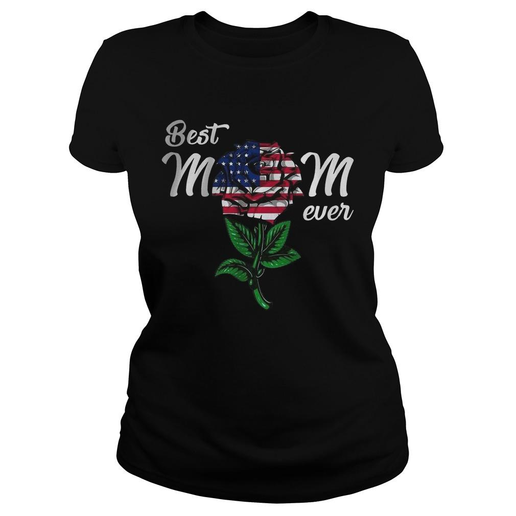 American Flag Rose Best Mom Ever Longsleeve