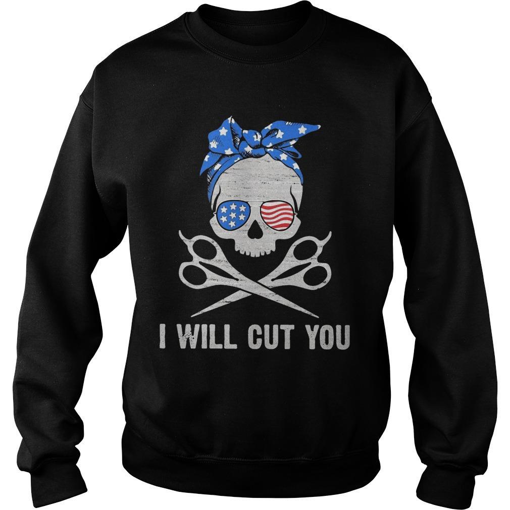American Skull I Will Cut You Sweater