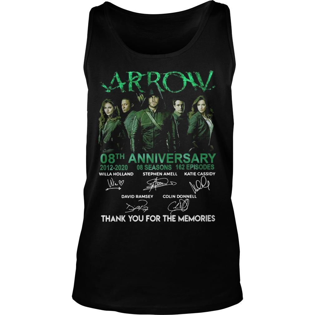Arrow 08th Anniversary 2012 2020 Thank You For The Memories Tank Top