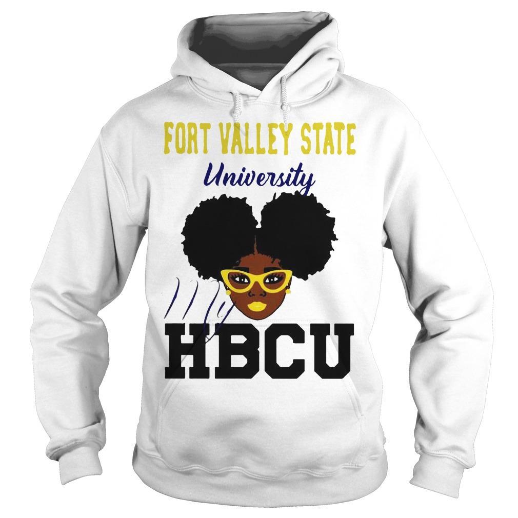 Black Girl Fort Valley State University My Hbcu Hoodie