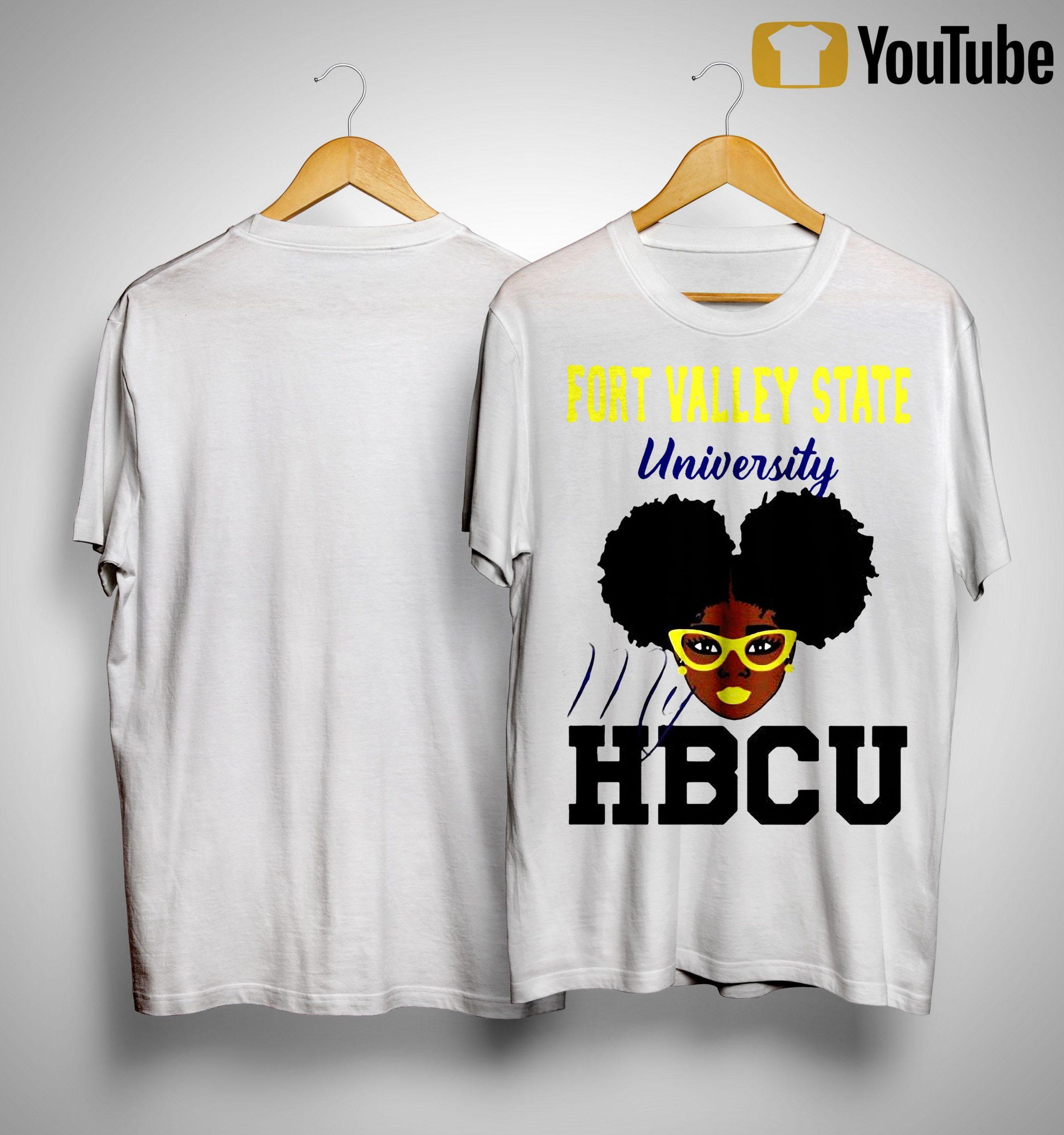Black Girl Fort Valley State University My Hbcu Shirt