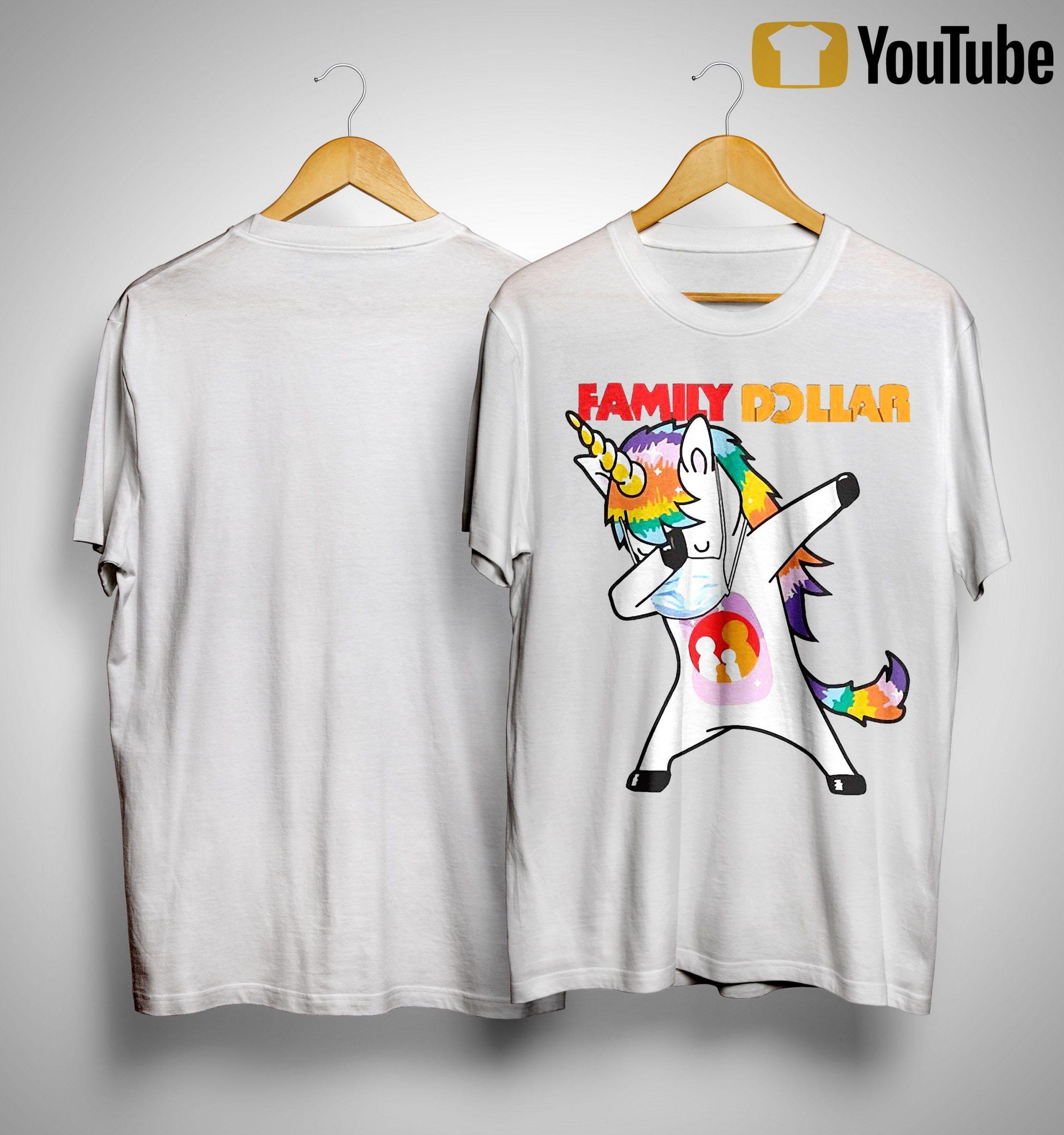 Dabbing Unicorn Mask Family Dollar Shirt