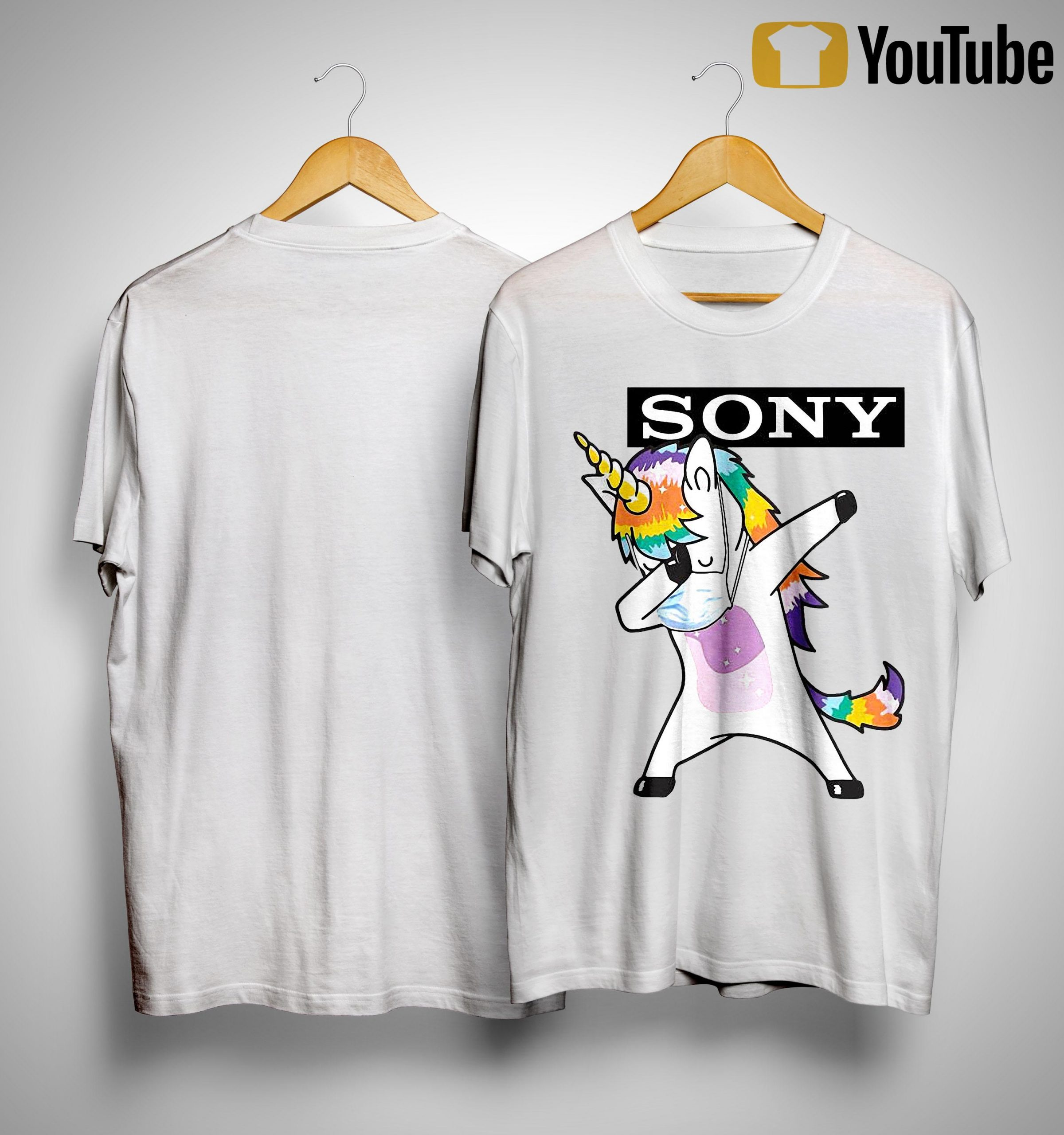 Dabbing Unicorn Mask Sony Shirt