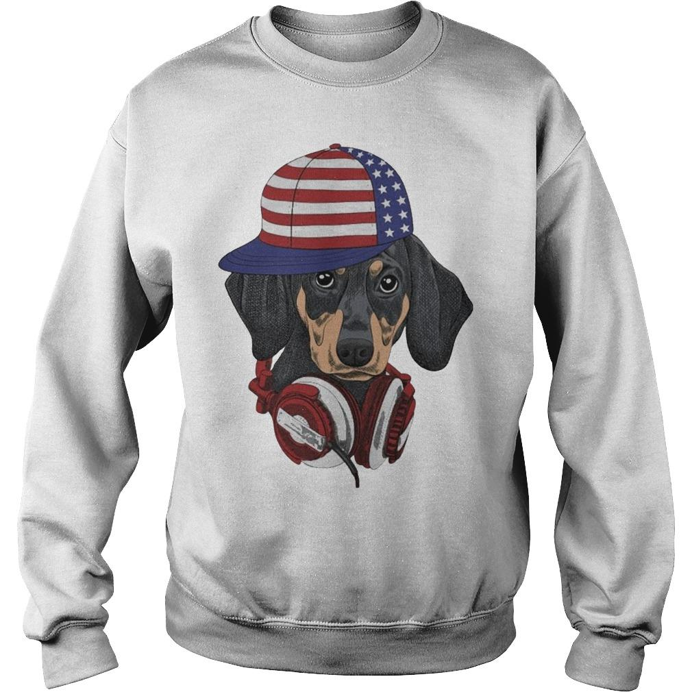 Dachshund Modern Happy The 4th Of July Sweater