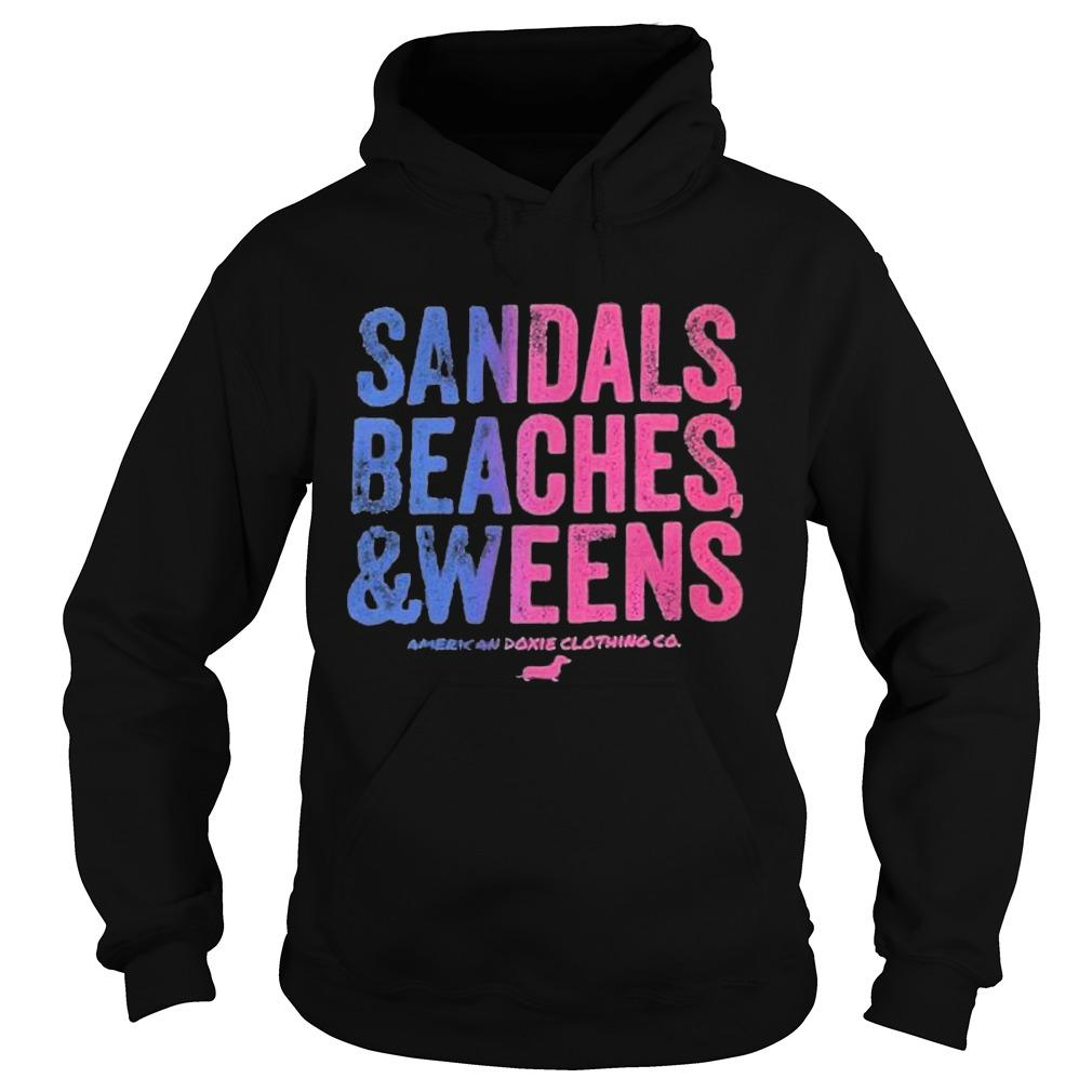 Dachshunds Sandals Beaches And Weens American Doxie Clothing Co Hoodie