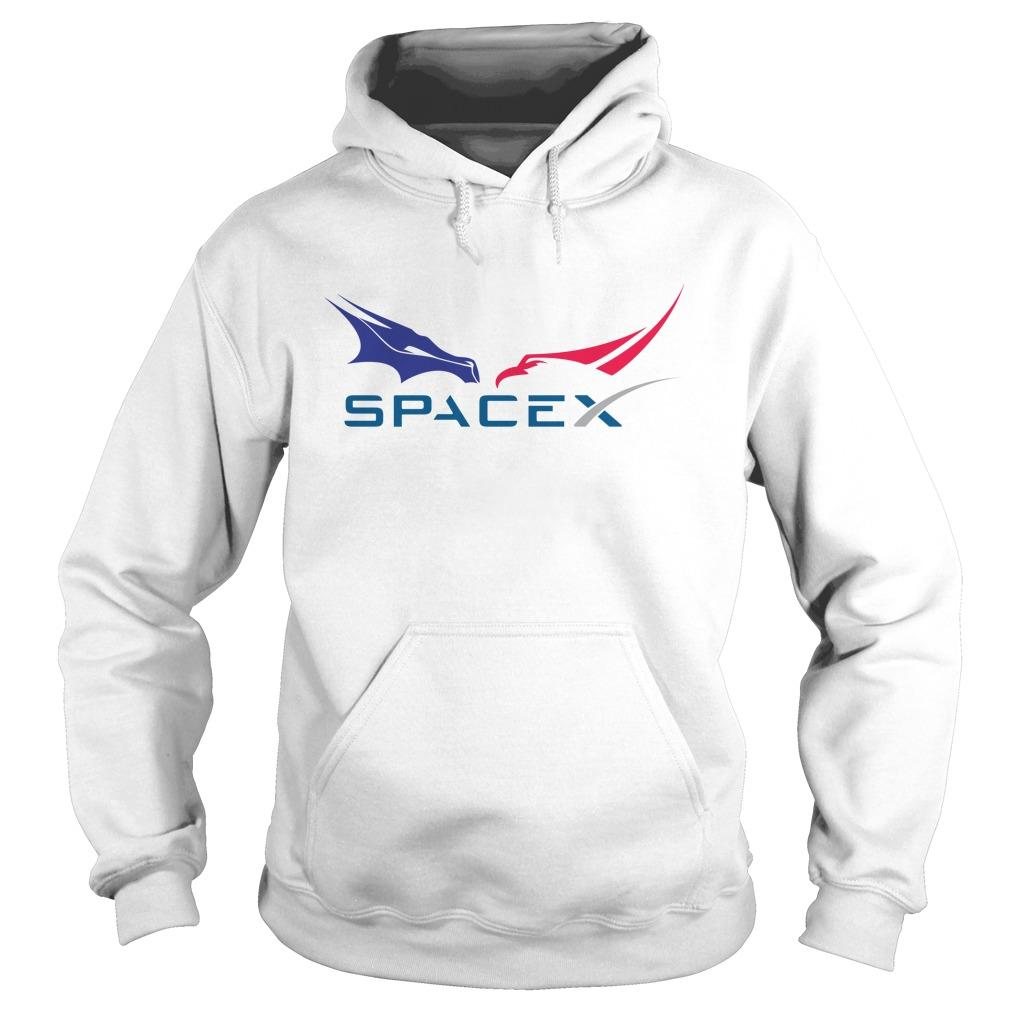 Dragon Falcon F9 Rocket Tesla Spacex Hoodie