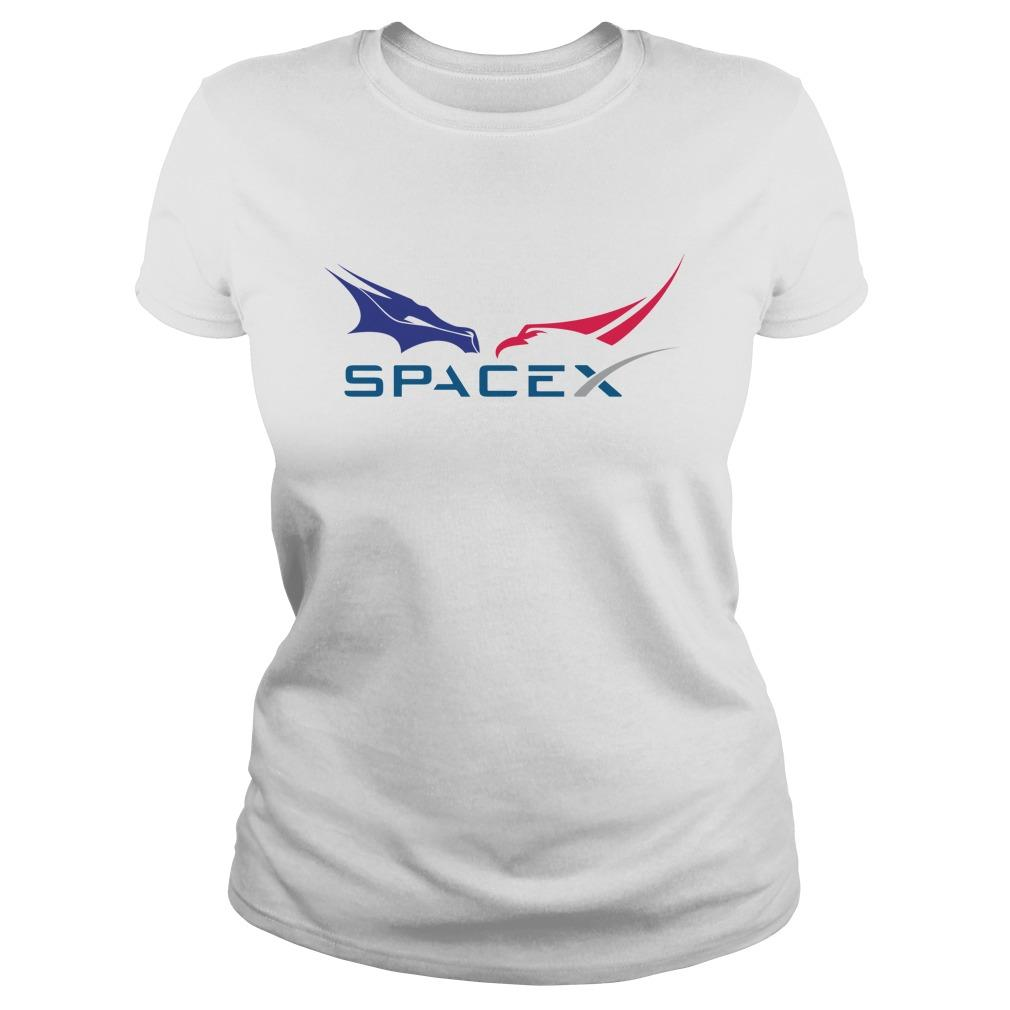 Dragon Falcon F9 Rocket Tesla Spacex Longsleeve