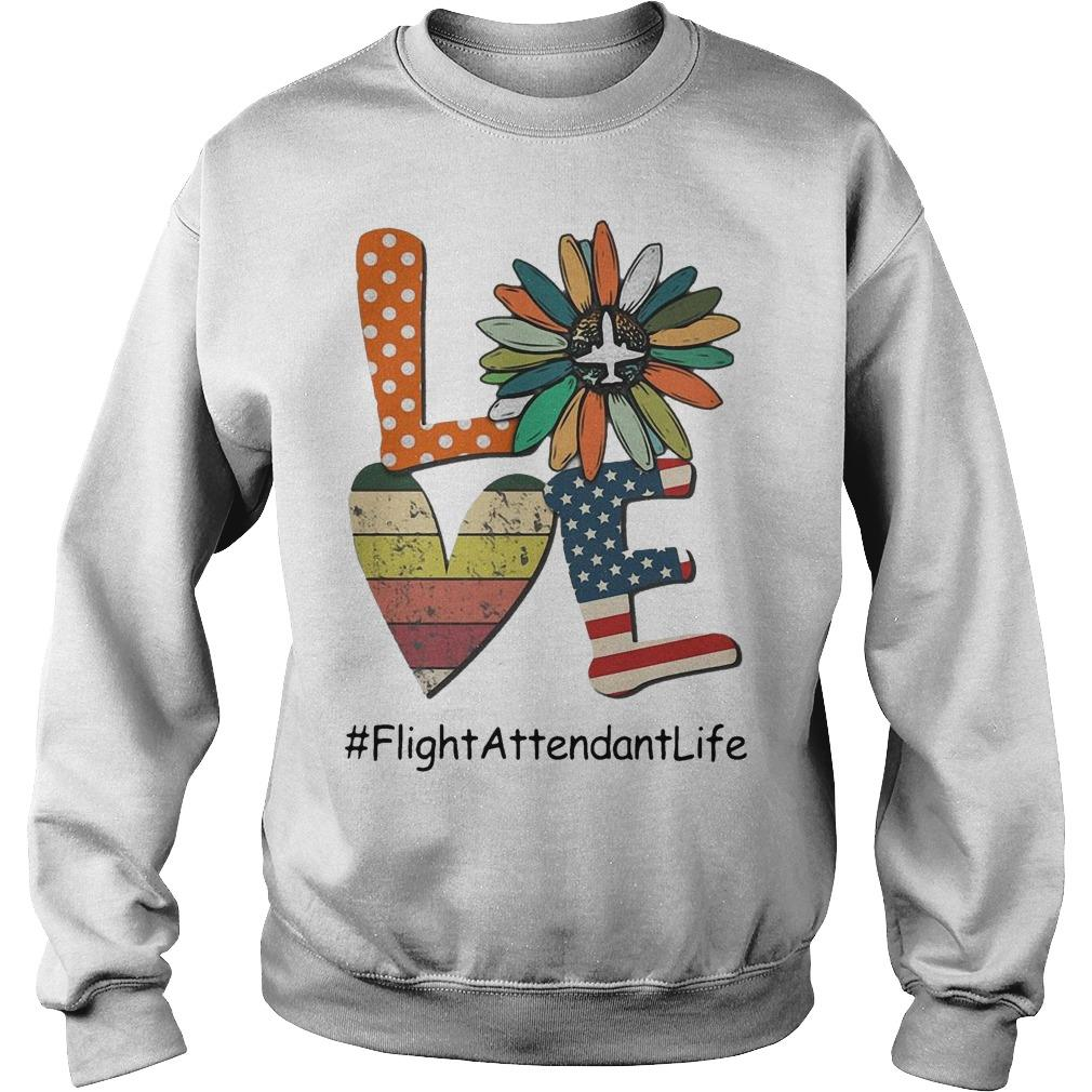 Flower Independence Day Love Flight Attendant Life Sweater