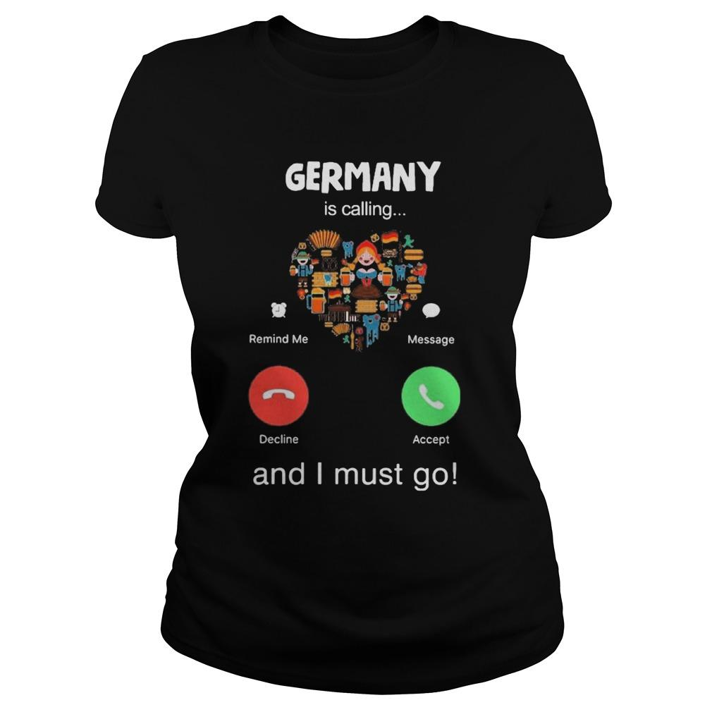 Heart Germany Is Calling And I Must Go Longsleeve