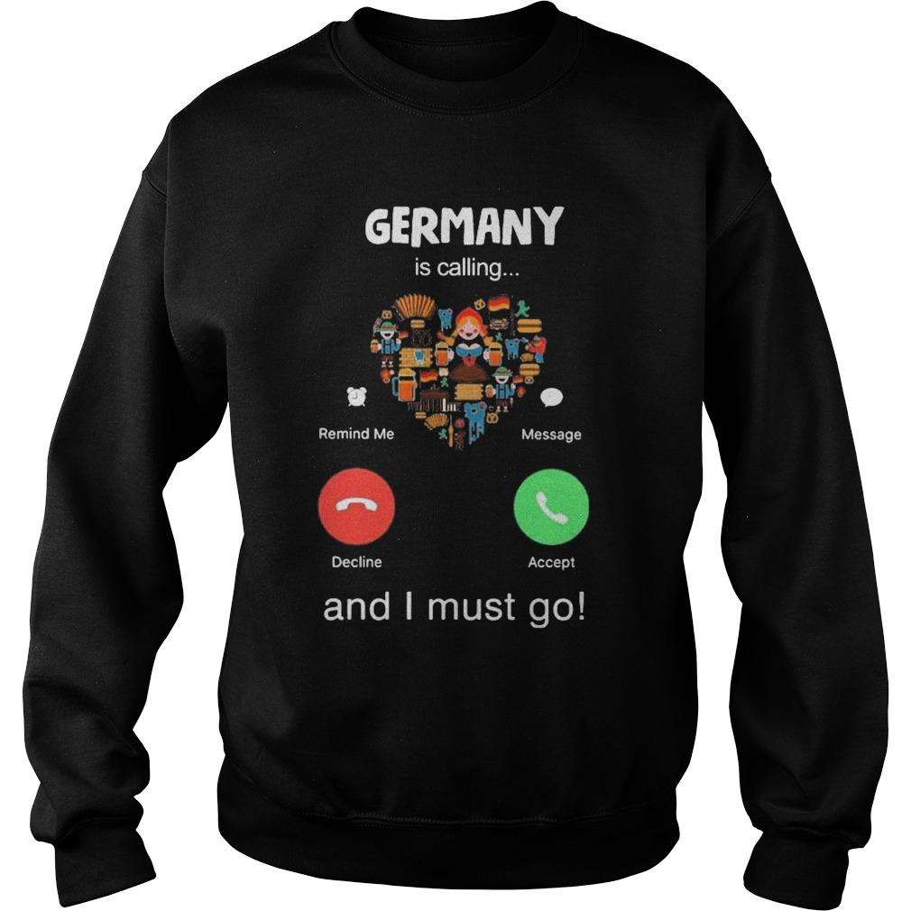 Heart Germany Is Calling And I Must Go Sweater
