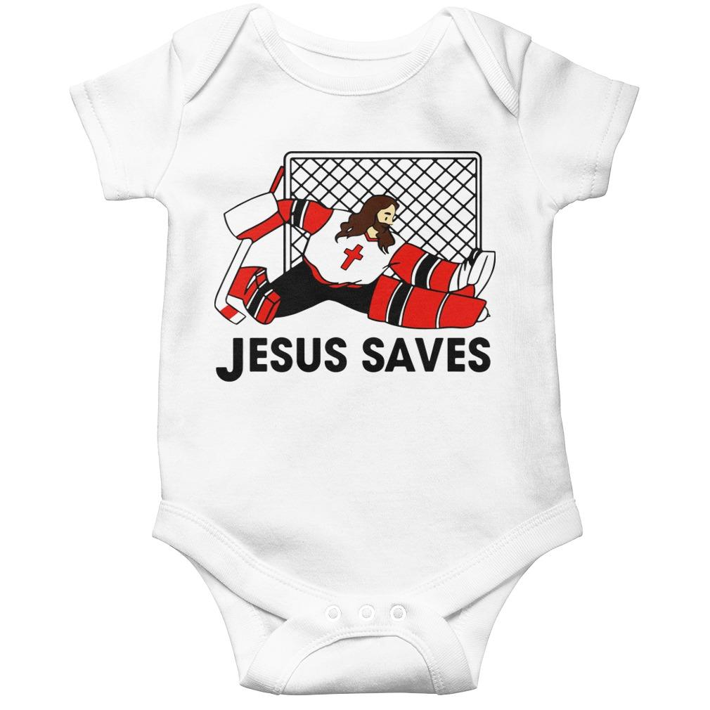 Hockey Jesus Saves Longsleeve