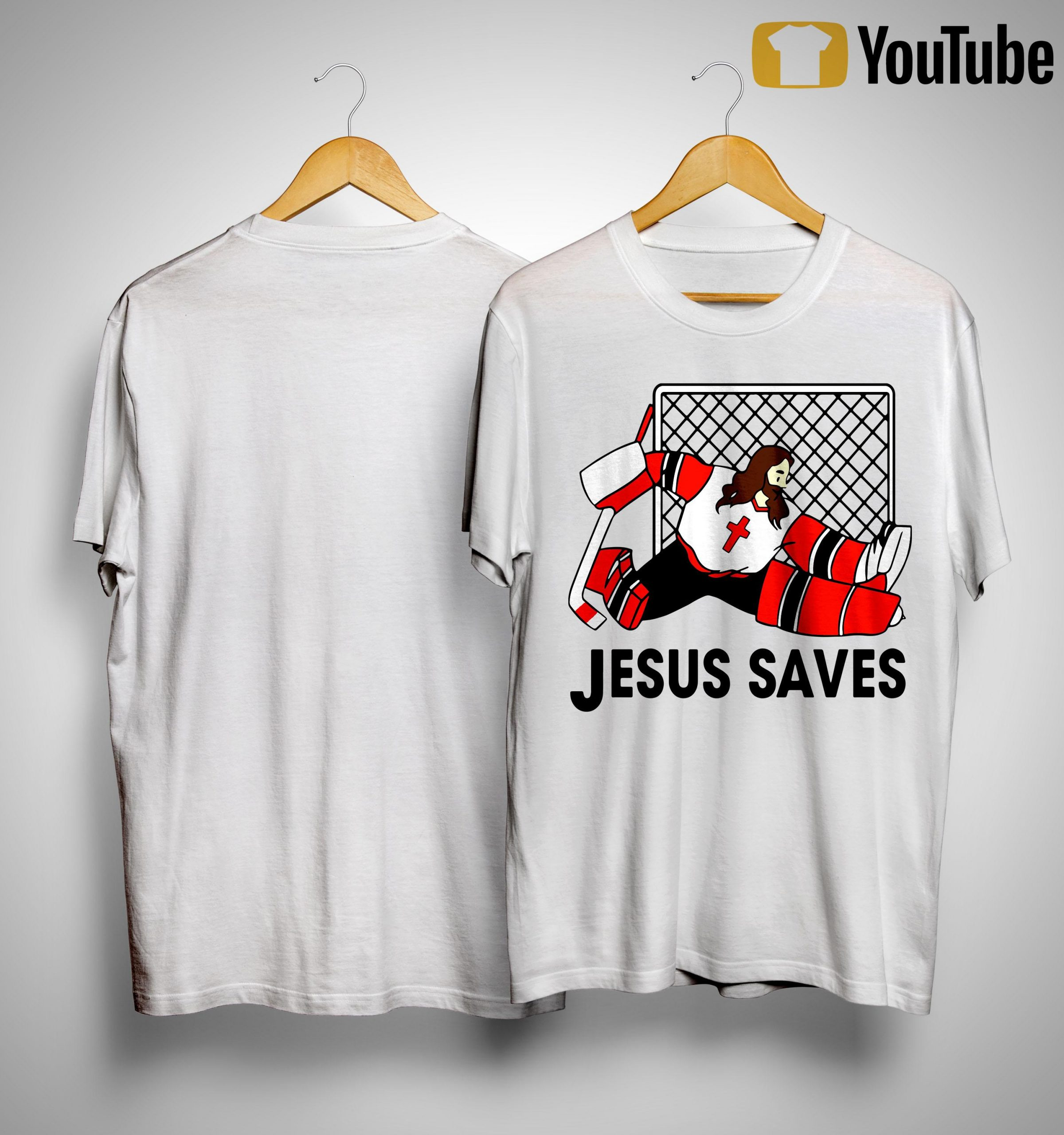 Hockey Jesus Saves Shirt