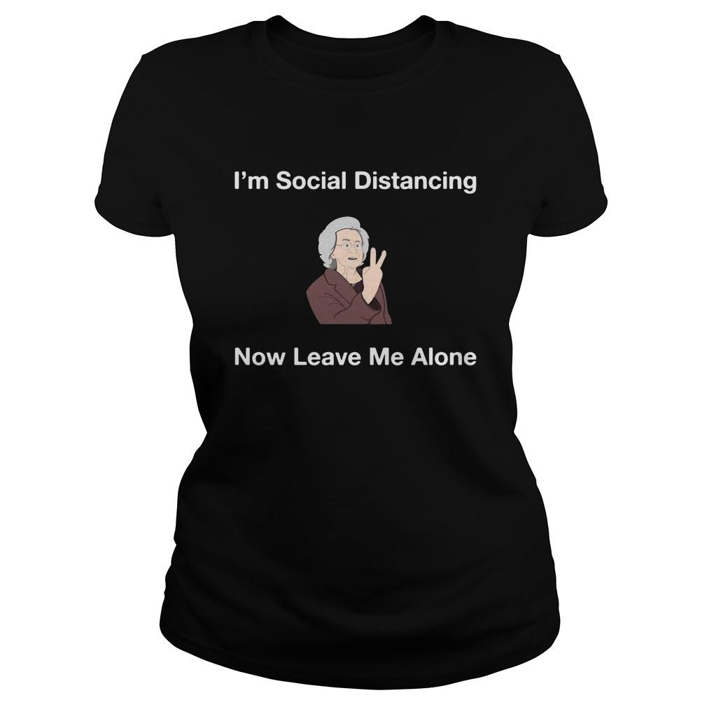 I'm Social Distancing Now Leave Me Alone Longsleeve